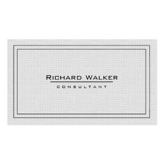 Professional Elegant Plain White Square Boarder Double-Sided Standard Business Cards (Pack Of 100)