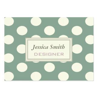 Professional elegant polka dots/choose background large business cards (Pack of 100)
