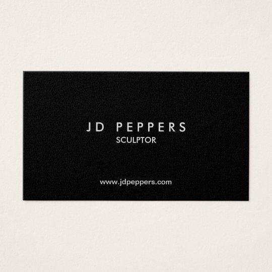professional elegant  silver metallic font business card