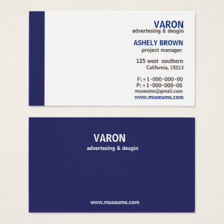 Professional Elegant Simple Blue Business Card