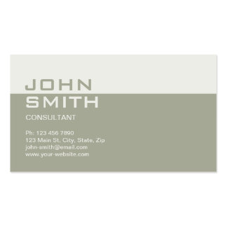Professional Elegant Simple Plain Attorney Beige Double-Sided Standard Business Cards (Pack Of 100)