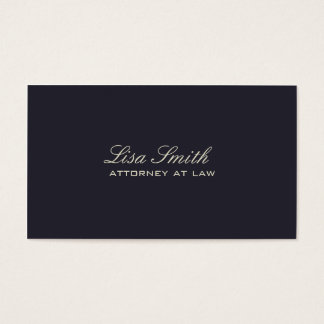 Professional Elegant Simple Plain Attorney Blue Business Card