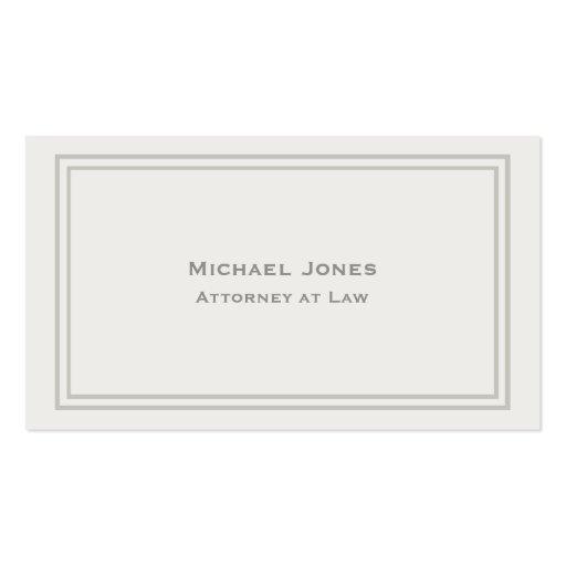 Professional Elegant Simple Plain Attorney Cream Business Card Template