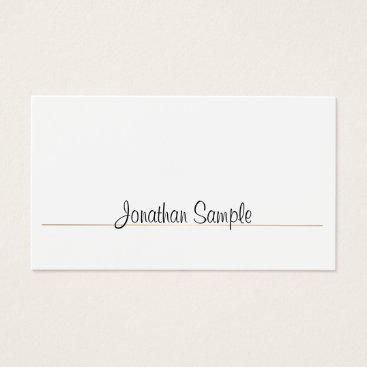 Professional Elegant Smart Design Gold Plain Luxe Business Card