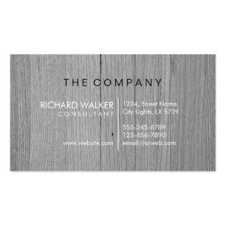 Professional Elegant Subtle Black Wood Modern Double-Sided Standard Business Cards (Pack Of 100)