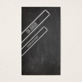 Professional elegant tile minimalism chalkboard business card