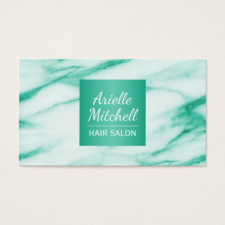 Professional Elegant Turquoise Alabaster Marble Business Card