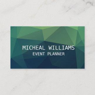 Professional Elegant Unique Modern Polygon Business Card