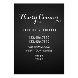 Professional Elegant Vertical Board Large Business Card