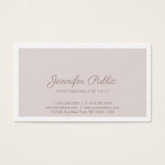 Professional Elegant Vintage Color Simple Plain Business Card
