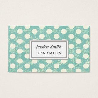 Professional elegant vintage floral polka dots business card