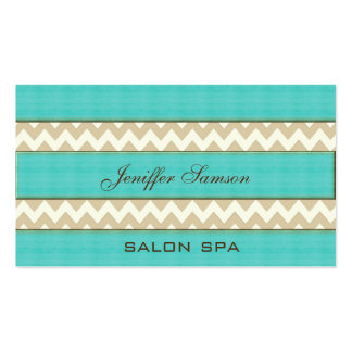 Professional elegant vintage turquoise chevron business card