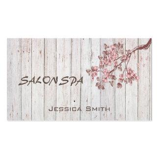 Professional elegant wood texture cherry tree business card