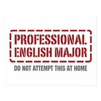 Professional English Major Postcard