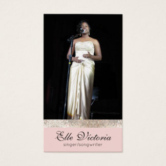 Professional Entertainer Performer Photo Business Card