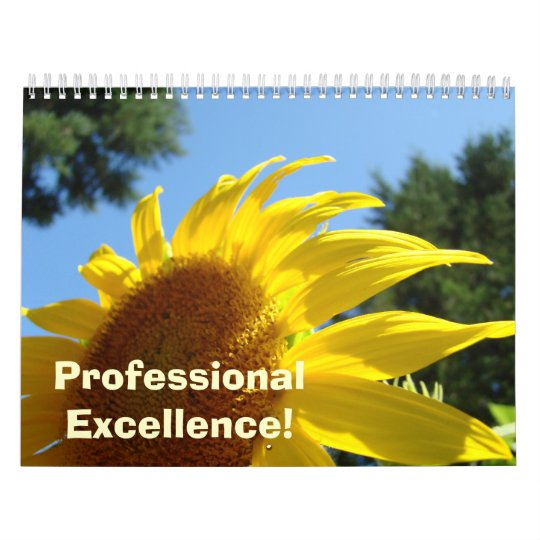 Professional Excellence! Sunflowers Calendar
