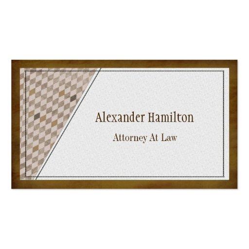 Professional Executive Mahogany Argyle Check Business Card Template