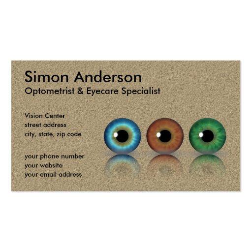 Professional Eyeballs Optometry Business Cards