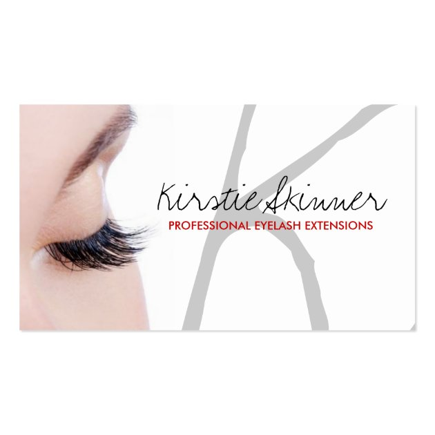 Professional eyelash extensions business cards for Eyelash business card