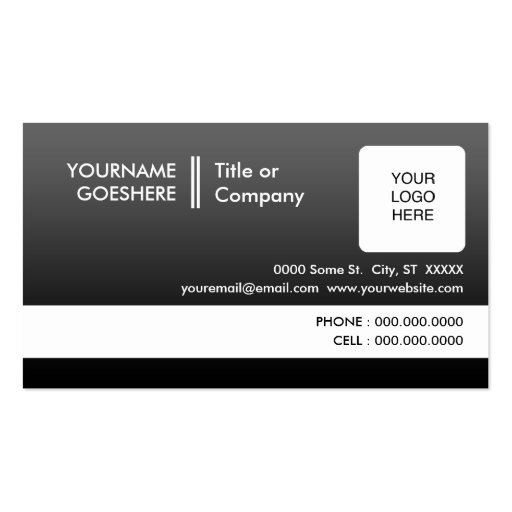 professional fade : (2-sided) : business card template