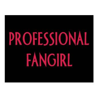 Professional fangirl postcard