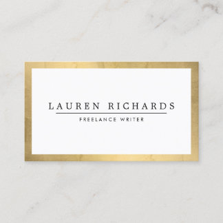 Professional Faux Gold and White Business Card