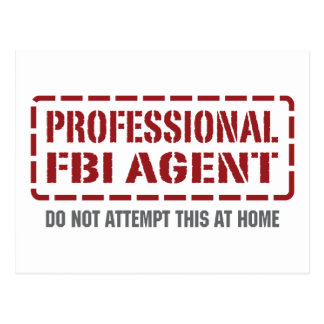 Professional FBI Agent Postcard