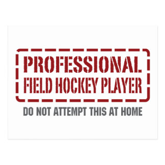 Professional Field Hockey Player Post Card