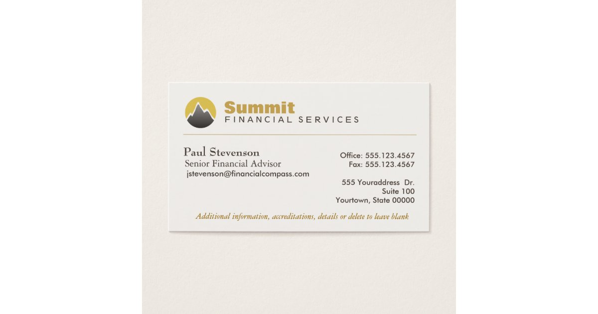 Professional Financial Advisor & Analyst Finance Business Card ...
