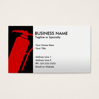 professional fire extinguisher business card