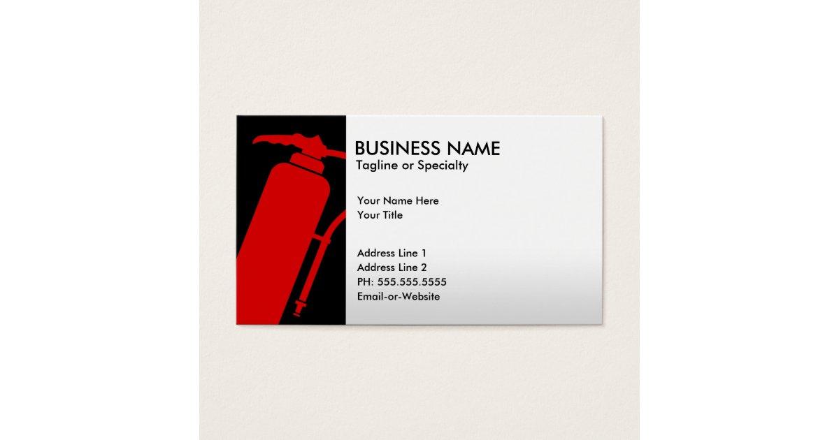 Fire Extinguisher Business Cards & Templates | Zazzle