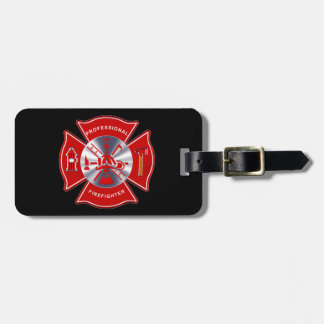 Professional Firefighter (add your contact info) Luggage Tag