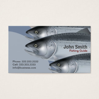 Professional Fishing Guide Service Business Card