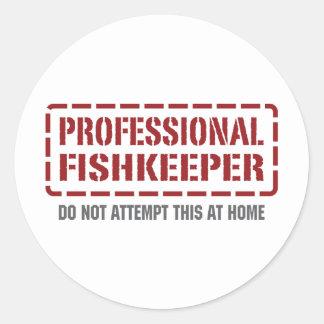 Professional Fishkeeper Round Sticker