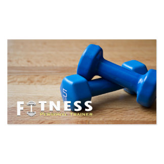 Professional Fitness Personal Trainer Dumbbell Business Card