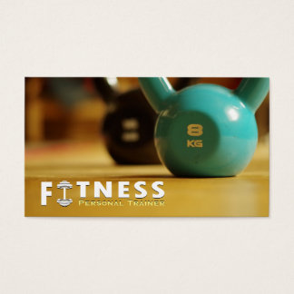 Professional Fitness Personal Trainer Kettlebell Business Card