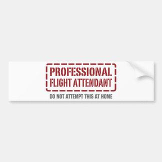Professional Flight Attendant Bumper Sticker