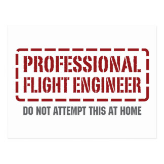 Professional Flight Engineer Postcard