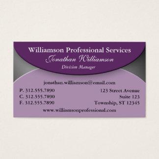 Professional Fold Purple Business Cards
