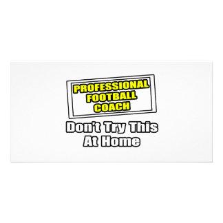 Professional Football Coach Photo Card