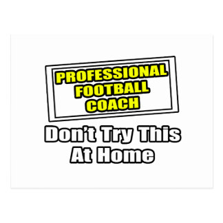 Professional Football Coach.. Postcard