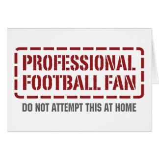Professional Football Fan Card