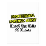 Professional Forensic Nurse .. Joke Postcards