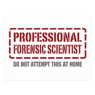 Professional Forensic Scientist Postcard