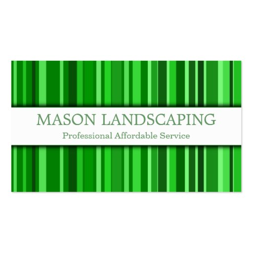 Professional Gardener Landscaping Business Card Zazzle