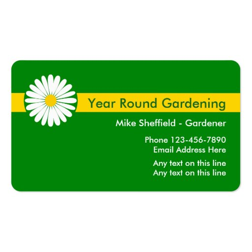 Professional Gardening Business Cards Zazzle
