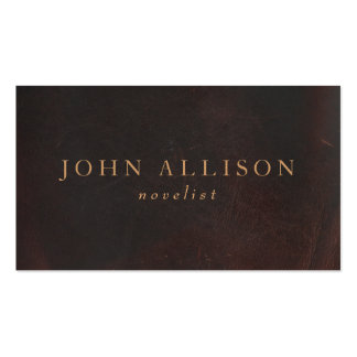 Professional Gentleman Brown Leather Vintage Double-Sided Standard Business Cards (Pack Of 100)