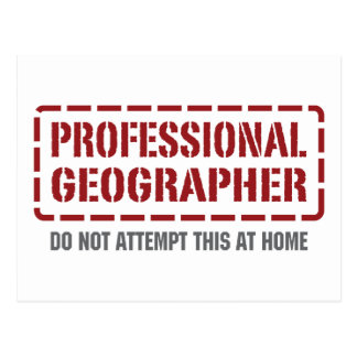 Professional Geographer Postcard