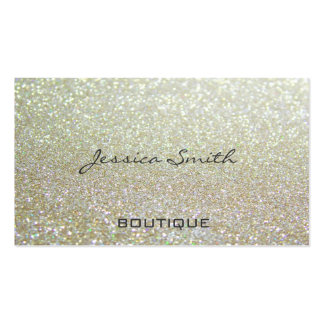 Professional glamorous elegant chic glittery business card