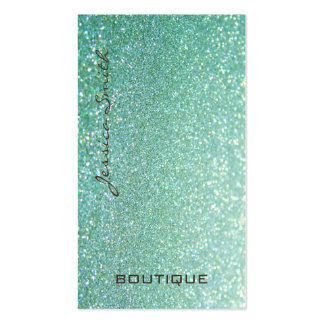 Professional glamorous elegant glittery business card